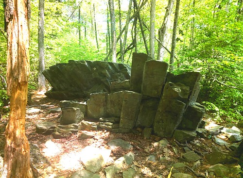 Interesting rock formations, Limberlost Trail, Shenandoah #throughglass