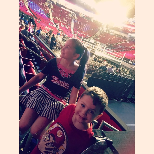Checking things out before the event started! Soakin it in!! #Smackdown #WWE