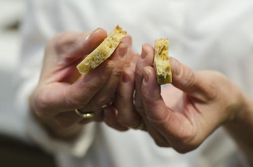 Bananbrød med mjølbillelarve