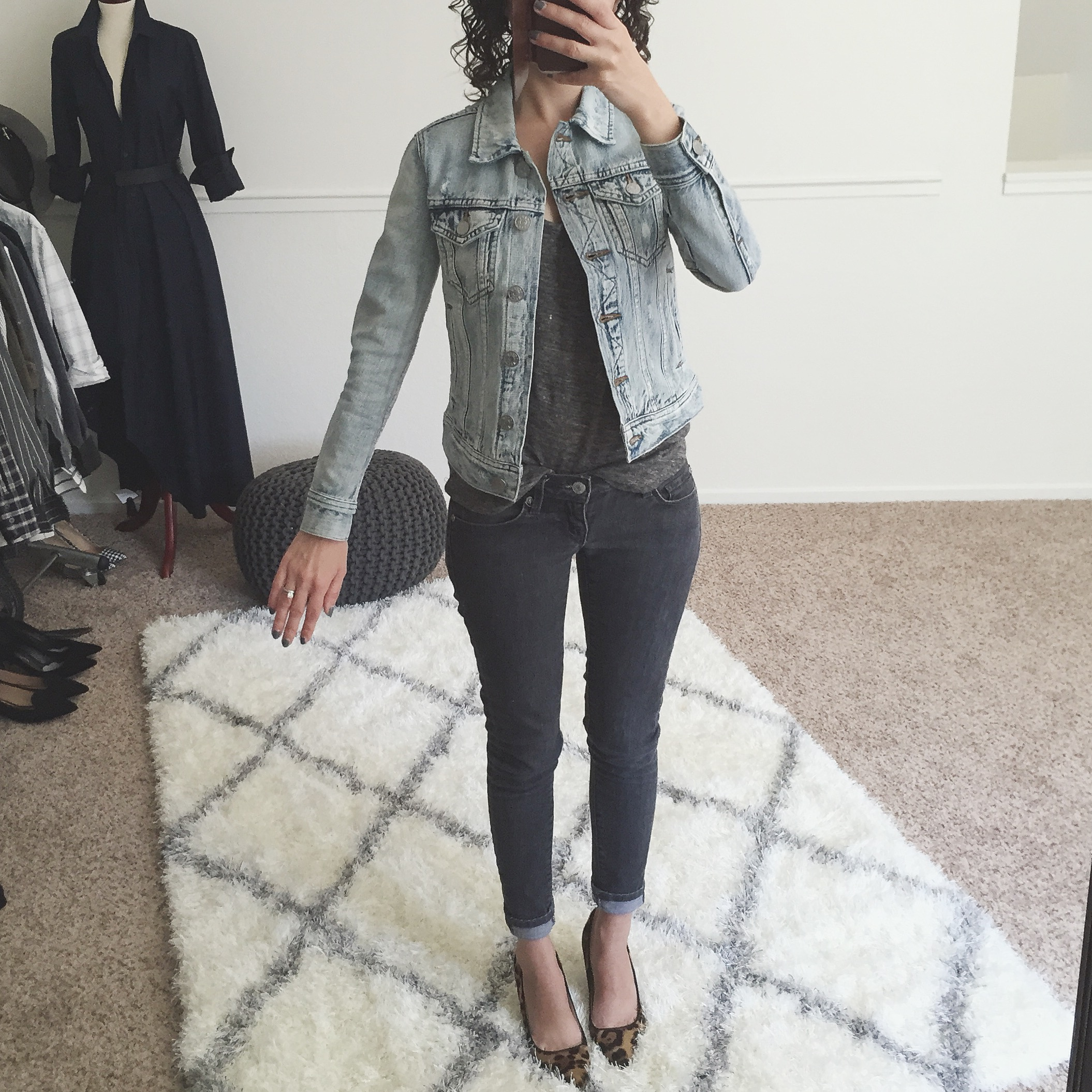 Review J.Crew Denim Jacket Calyer Wash xxxs petite