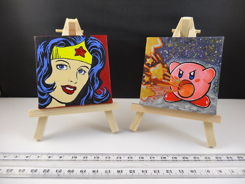 7x7cm mini canvases | by bbqweasel