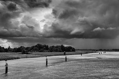 stormy atmosphere above the river ems